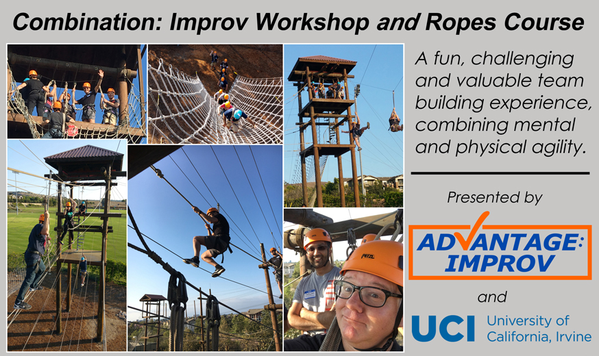 Combine improv workshop with ropes course